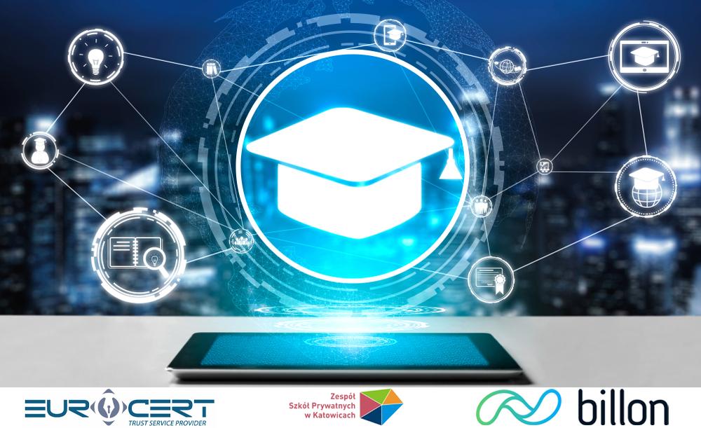 (Polski) Pieczęć kwalifikowana EuroCert dla cyfrowych dyplomów w Zespole Szkół Prywatnych w Katowicach